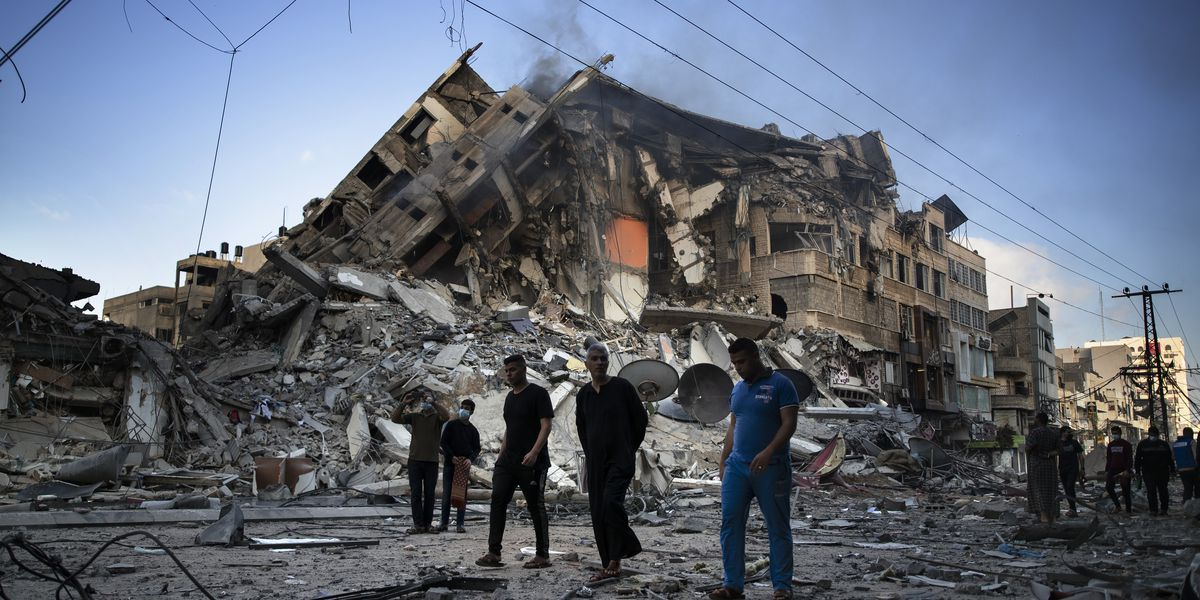 Medics: Israeli airstrikes kill 26 in downtown Gaza City