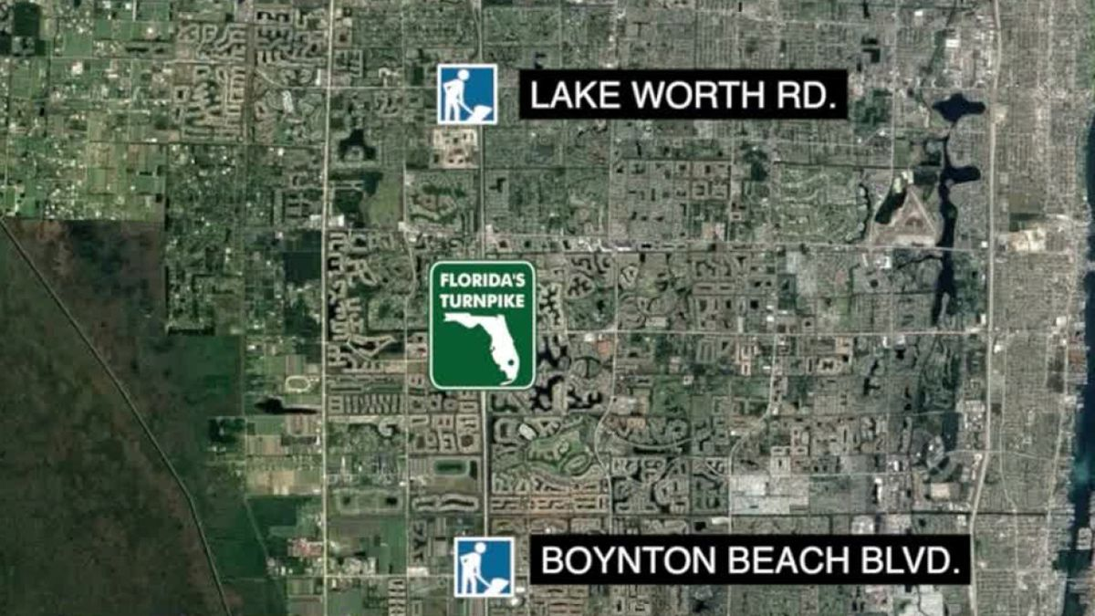 $168 million Turnpike widening project underway in central Palm Beach County