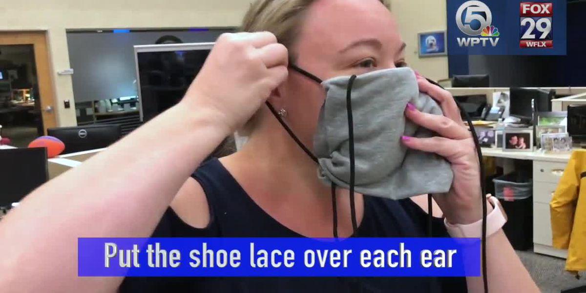 WATCH: Make a coronavirus mask from shirt, 2 shoelaces