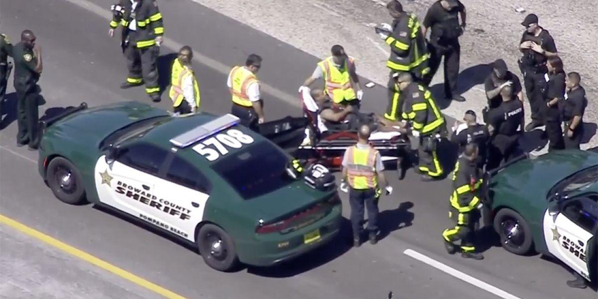I-95 NB shut down in Palm Beach County following car chase
