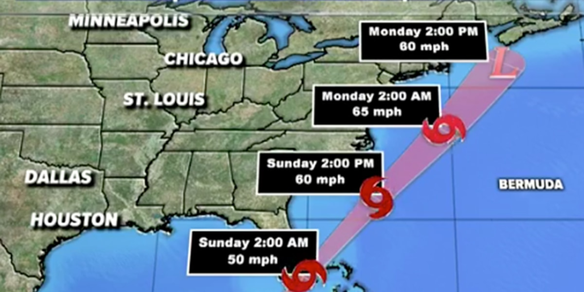 Tropical Storm Philippe forms