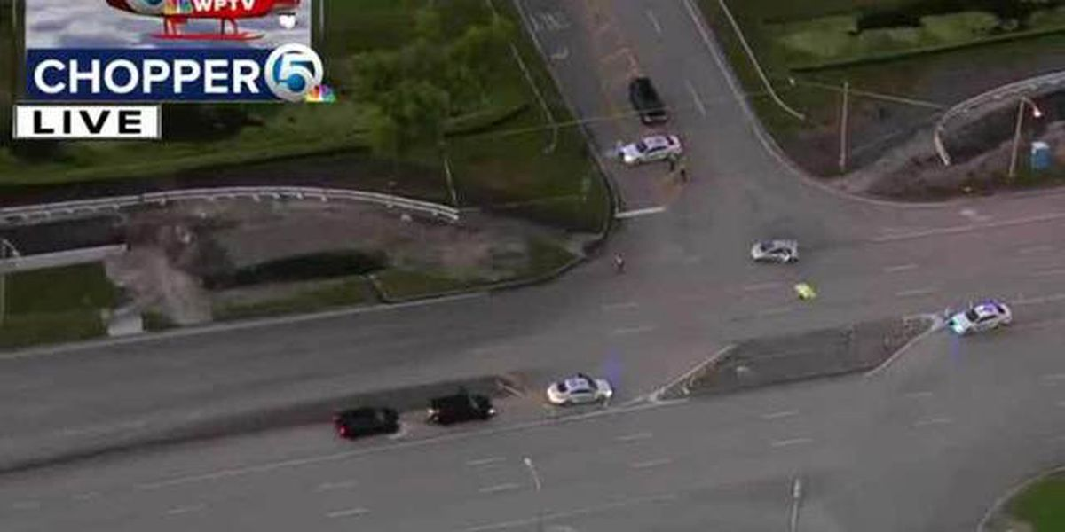 Crash involving pedestrian in West Boca