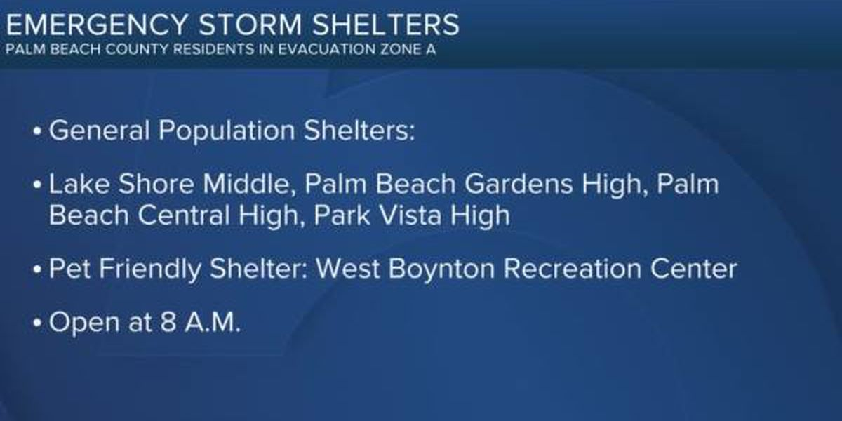 Palm Beach County to open 4 shelters for Hurricane Isaias