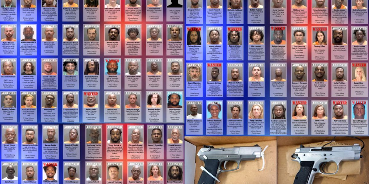 95 arrested on drug, weapons charges in major crime crackdown in Florida