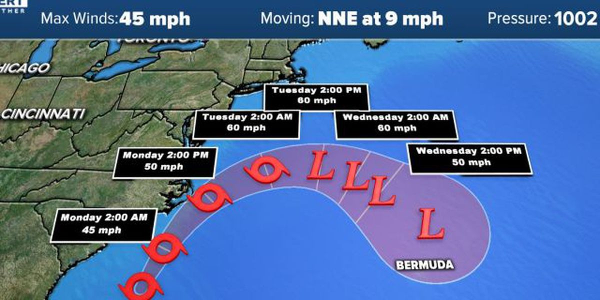Tropical Storm Arthur heads up the east coast