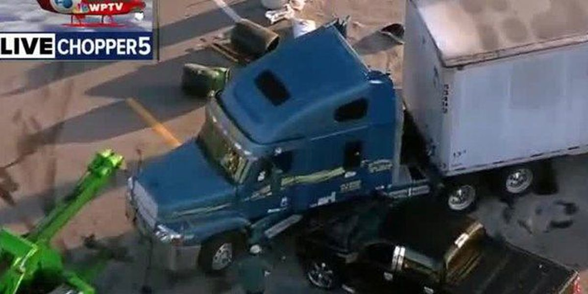 Truck, semi crash in South Bay causes fuel spill