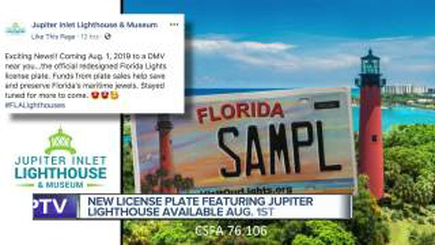 New Florida specialty license plate features Jupiter Inlet Lighthouse
