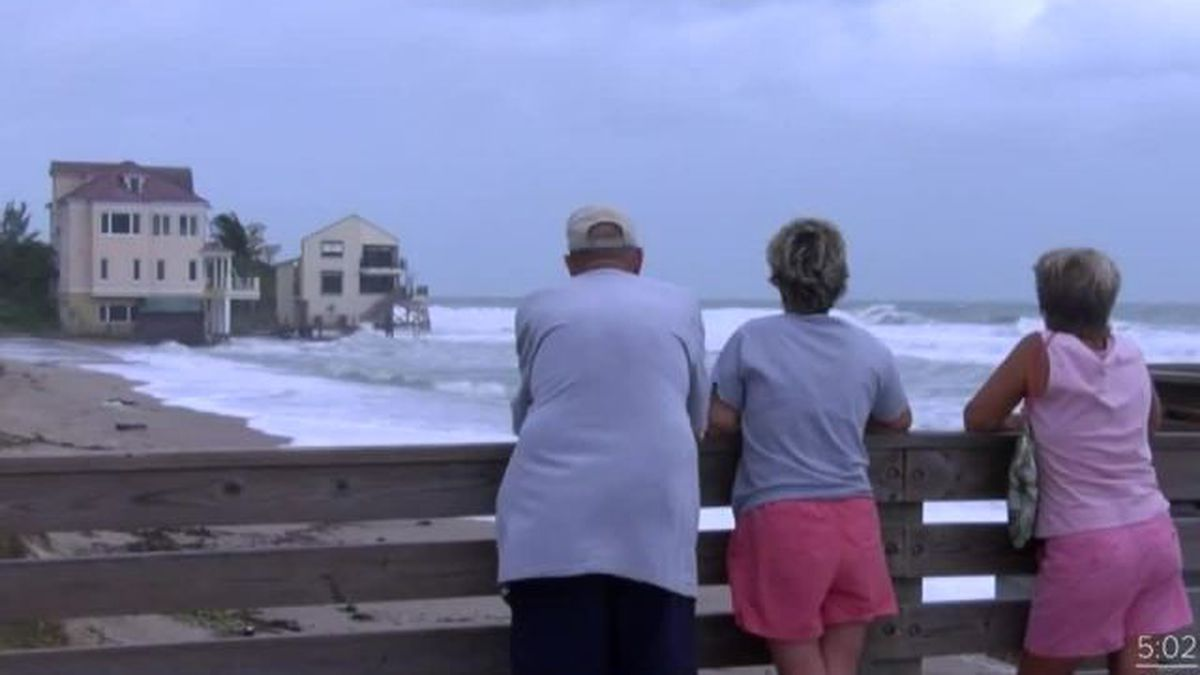Watching for beach erosion because of Hurricane Teddy