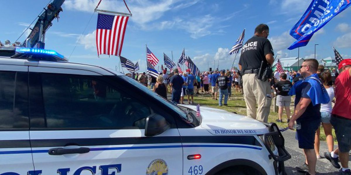 Back the Blue rally