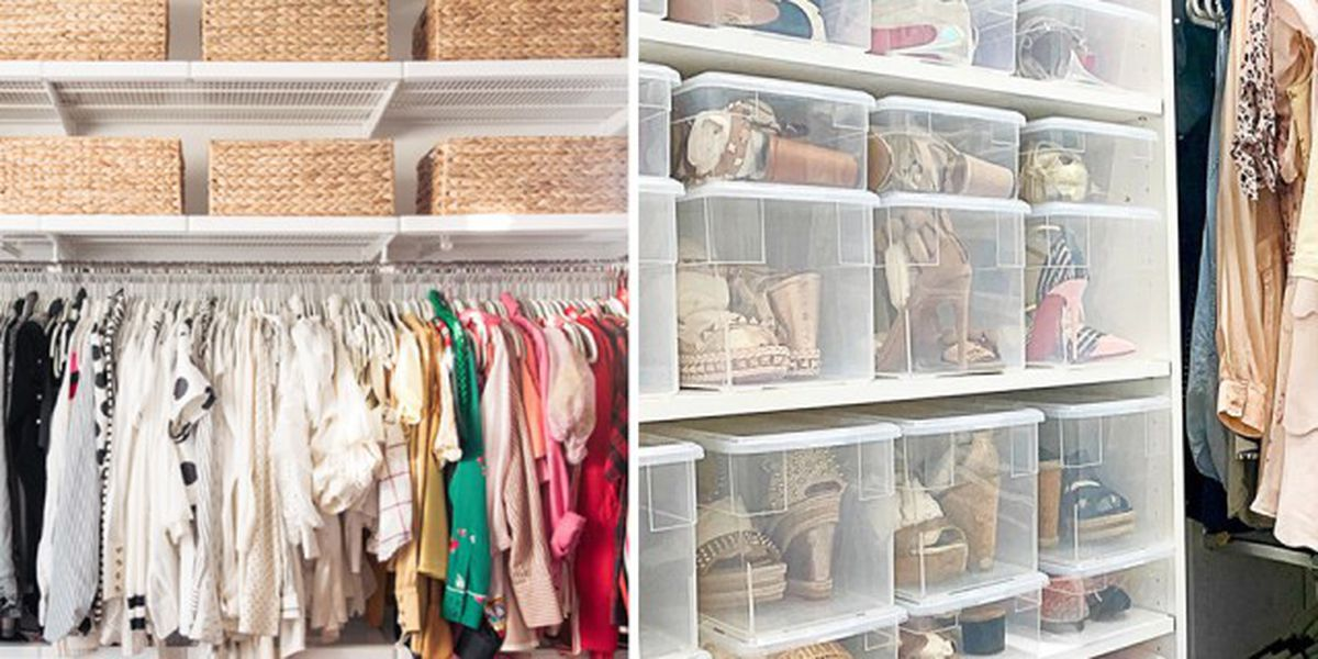 Organizing your closet can be a mental boost, save you money