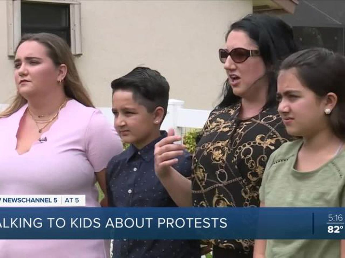 Parents talk to kids about protests around the country