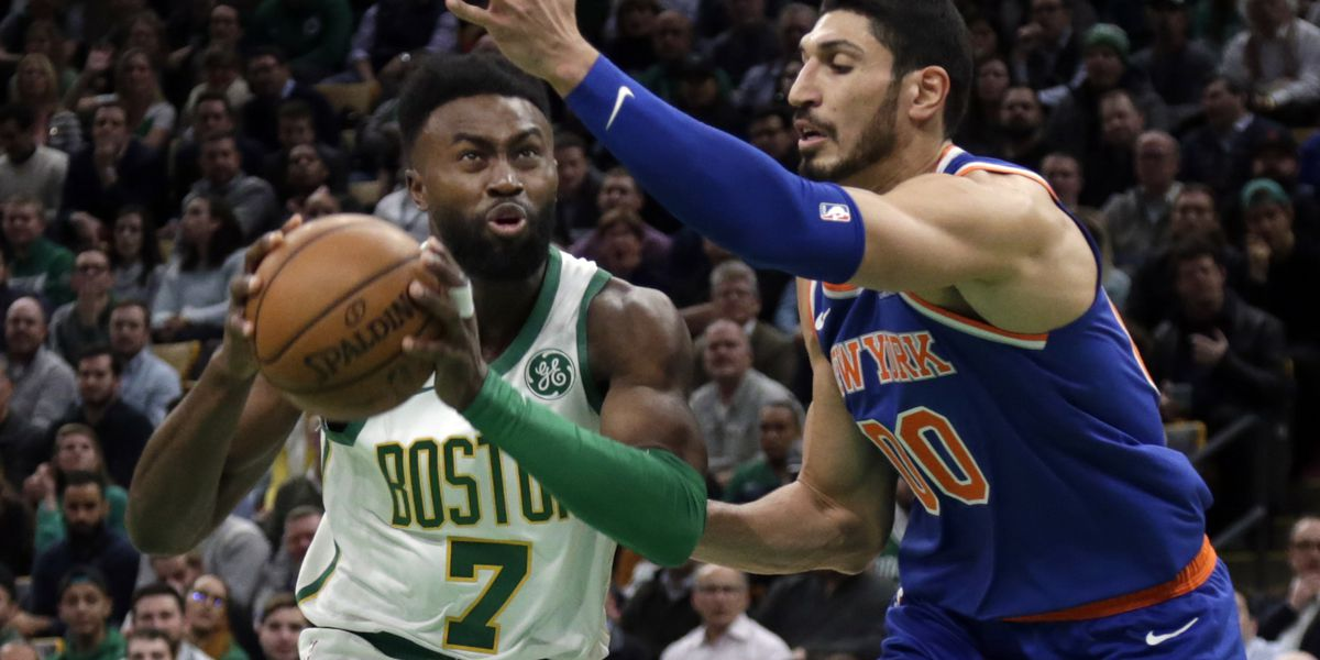 Irving leads Celtics past Knicks 128-100