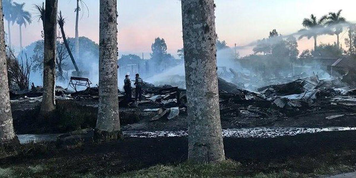 Fire destroys historic Pahokee building