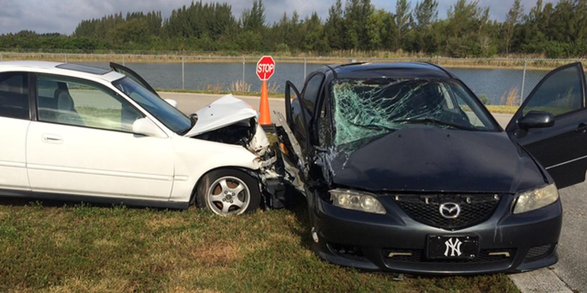 Students investigate mock crash scene