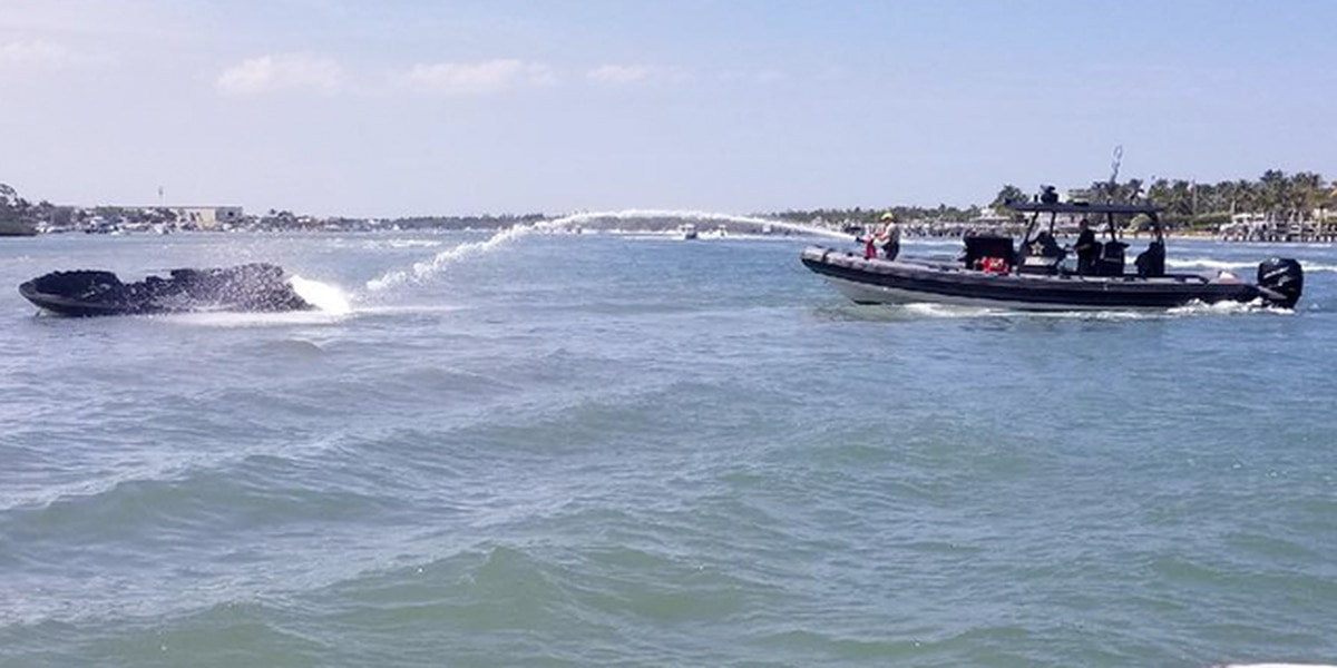 Weekend boat fire injures one person
