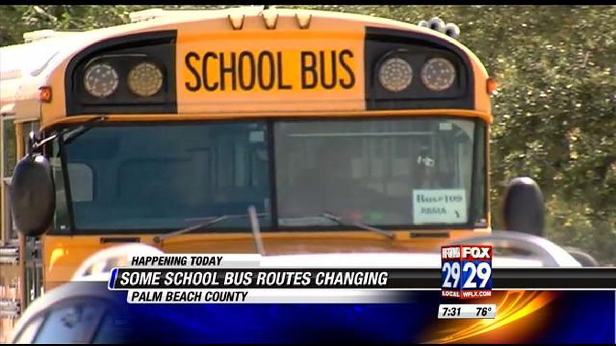 new school bus routes begin in palm beach county