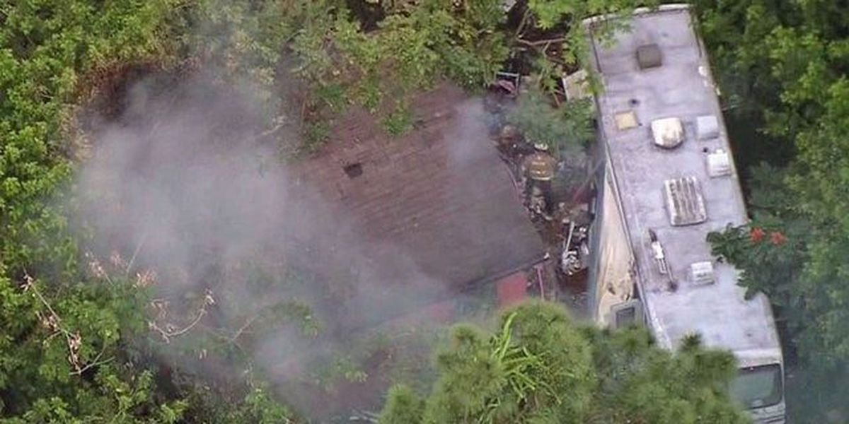 Residential fire in suburban West Palm Beach