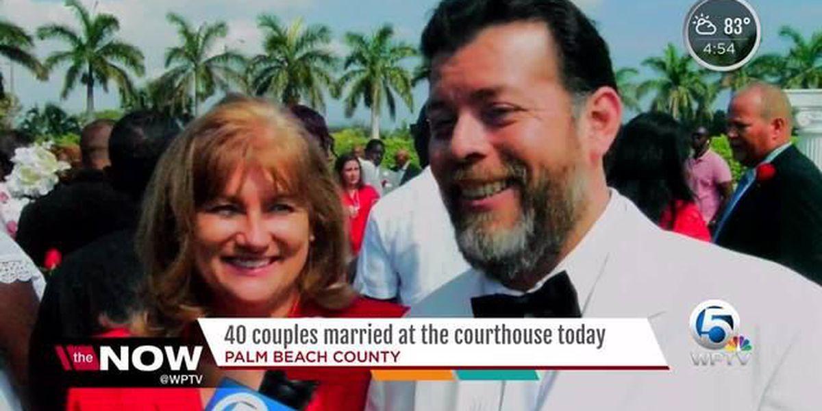 PBC Clerk weds 40 couples at free ceremony
