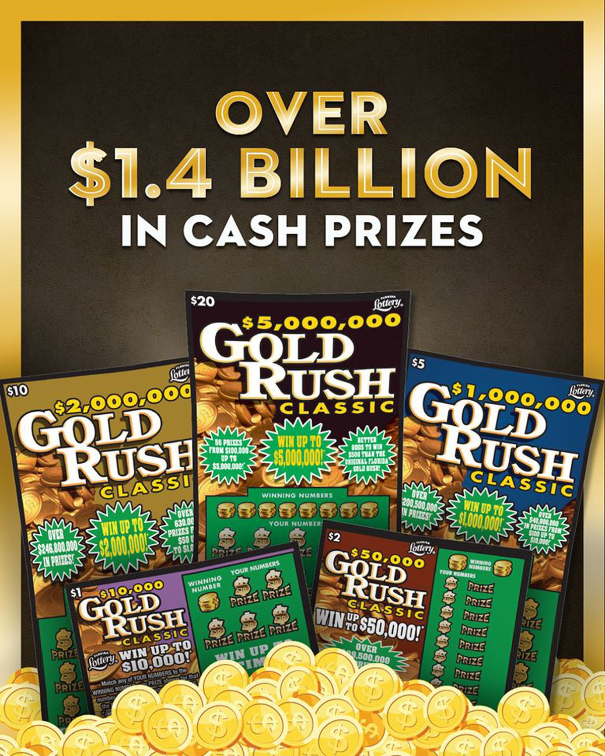 Florida Lottery Introduces New 30 Scratch Off Ticket To