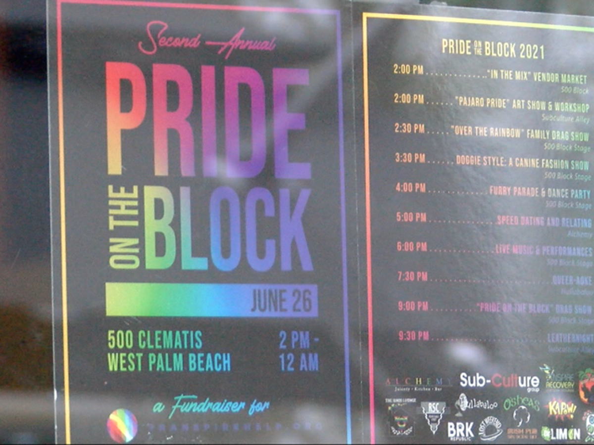 Pride on the Block returns to Clematis Street this weekend