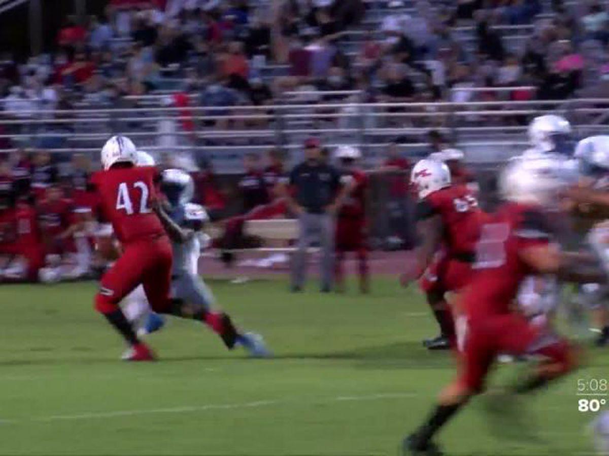 Fort Pierce high school football team hosts senior night early