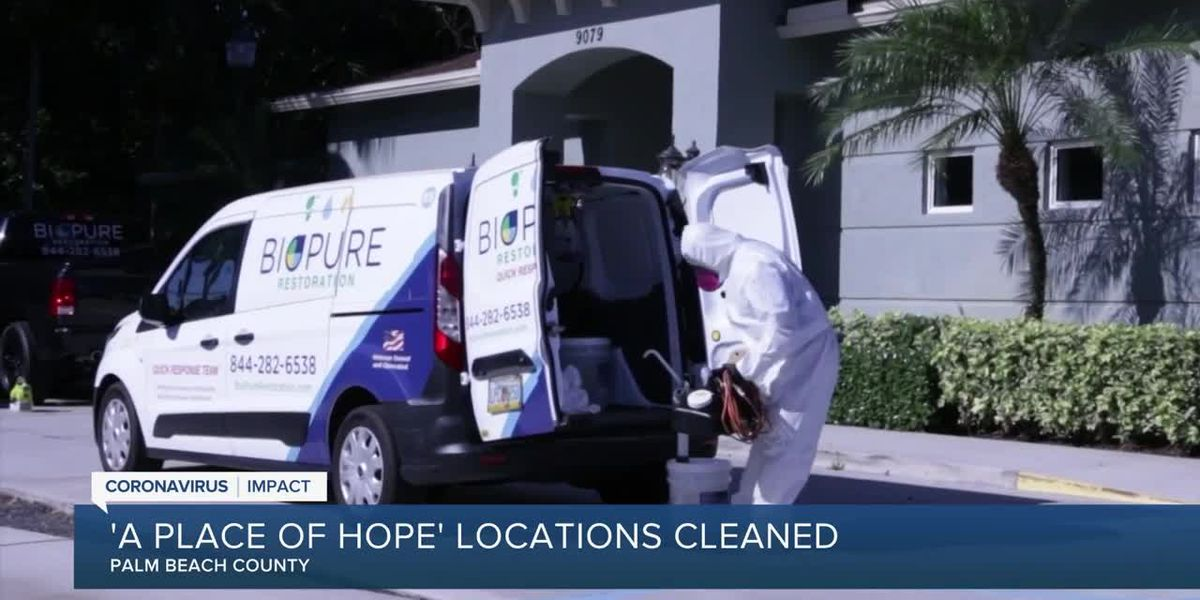 Company donates its services to clean 'Place of Hope' locations