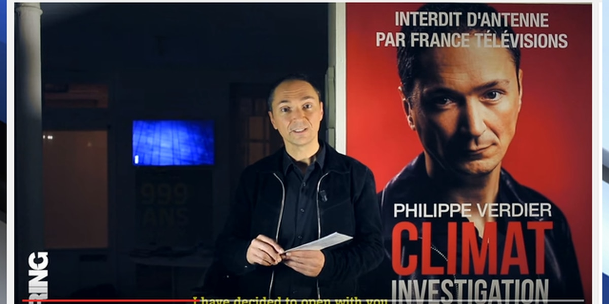 Was TV weatherman Philippe Verdier of France TV fired for book questioning climate change 'hype'?