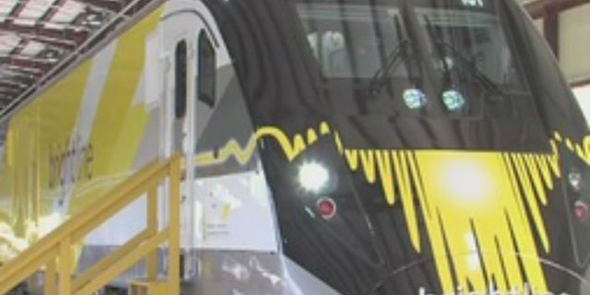 Brightline testing trains in the track