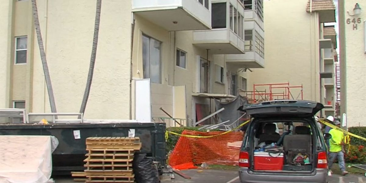 Worker injured in Boynton Beach when balcony collapses