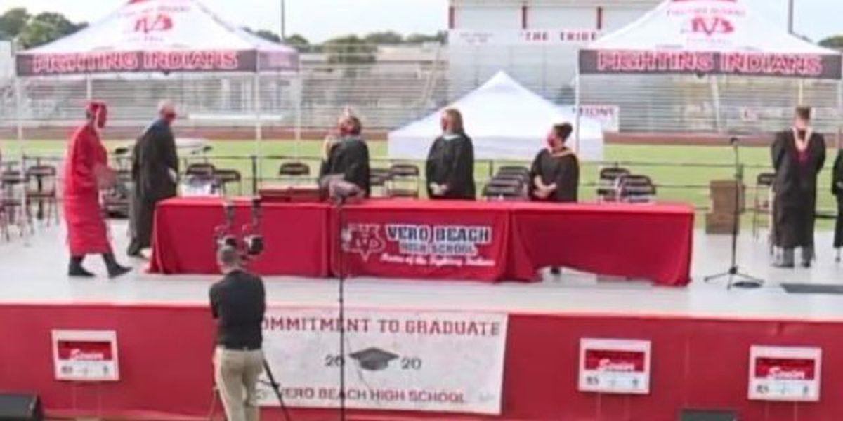 Vero Beach High School hosts drive up graduation