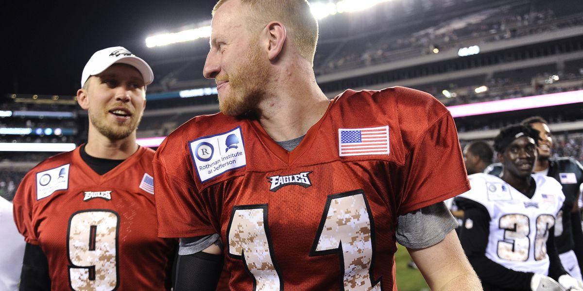 Carson Wentz aims to continue success vs. Redskins