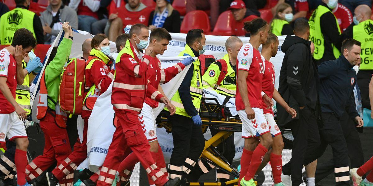 Eriksen taken to hospital after collapsing at Euro 2020
