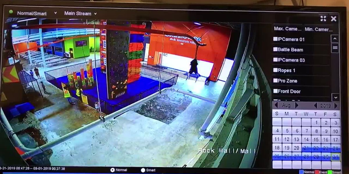 Boy falls from zip line at trampoline park; family sues
