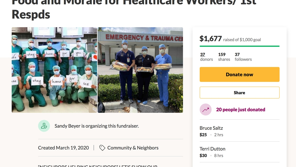 Local moms start GoFundMe page for workers on front lines