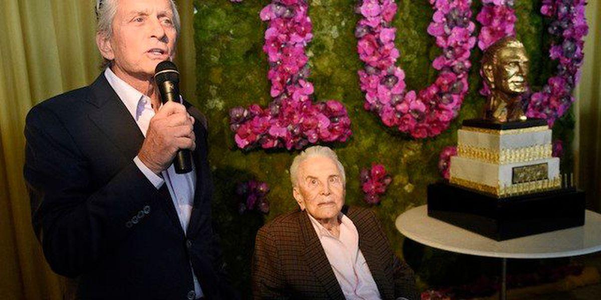 Kirk Douglas celebrates 100th birthday in style