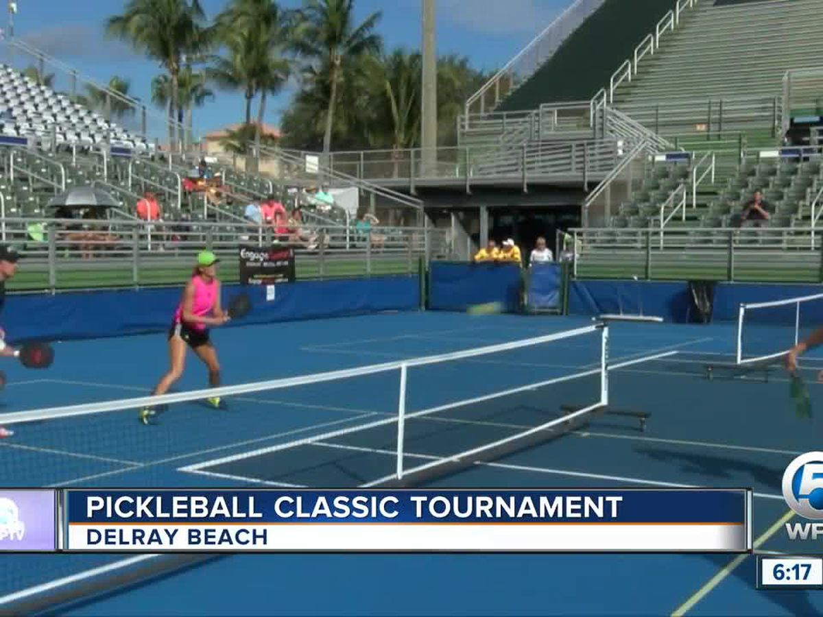 Pickleball tournament held in Delray Beach