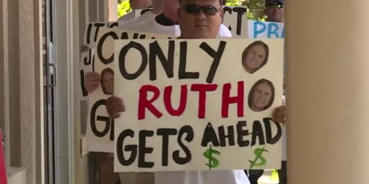 Protest outside Martin County Tax Collector's Office