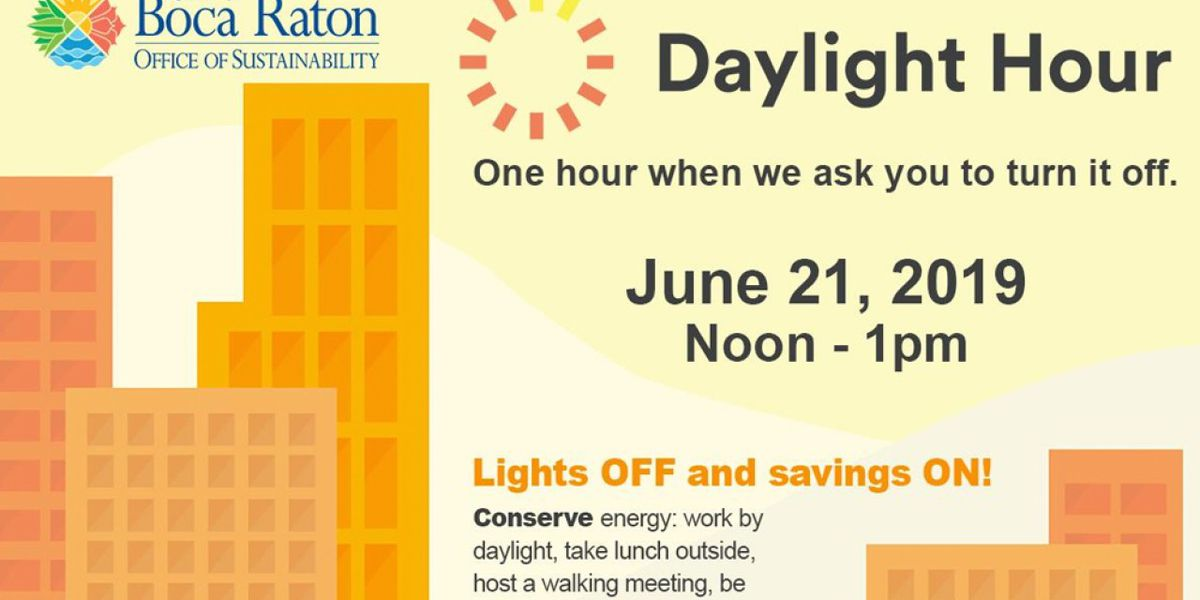 Boca Raton participating in 'Daylight Hour' to conserve energy on first day of summer
