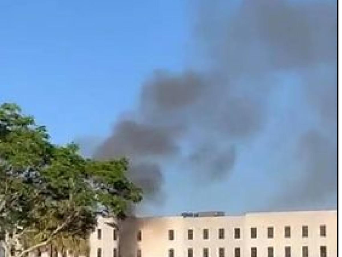 Crews battle high-rise structure fire in Jupiter