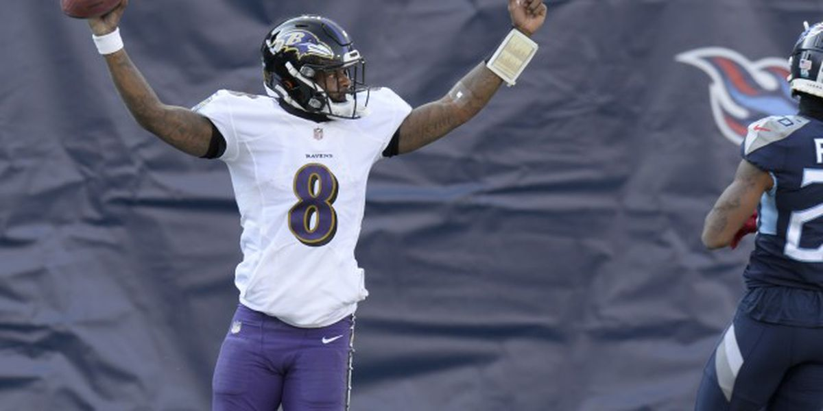 Ravens defeat Titans 20-13 as Lamar Jackson gets first playoff win