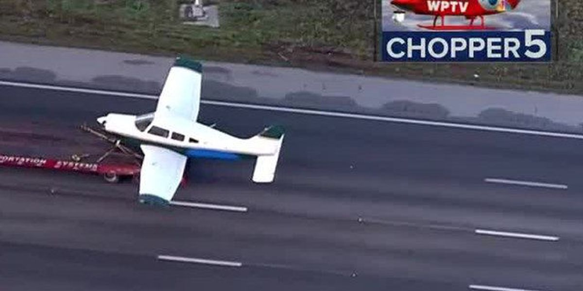 Small plane lands on I-95 in Indian River Co.