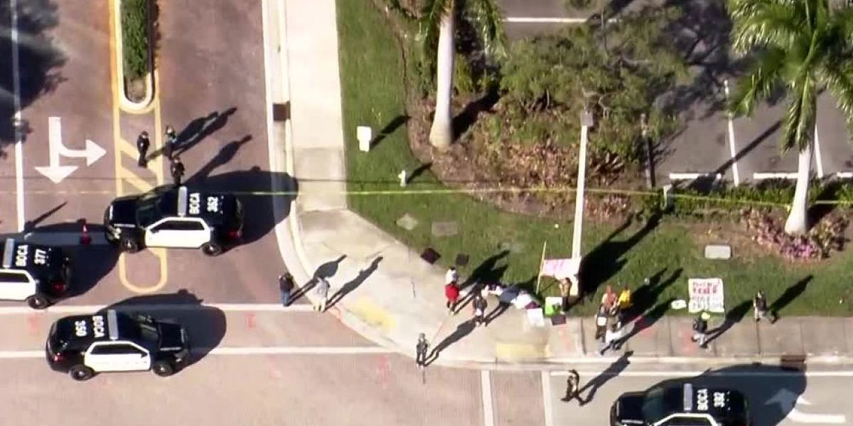 Protest held in front of The Geo Group headquarters in Boca Raton