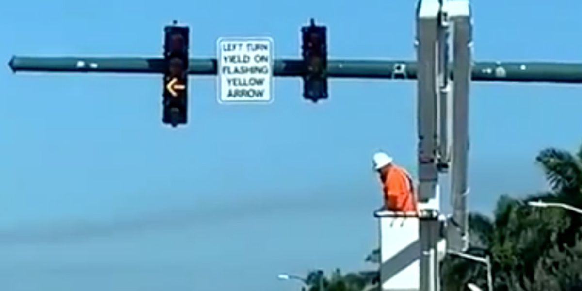 Flashing yellow traffic signals recently installed in Boynton Beach