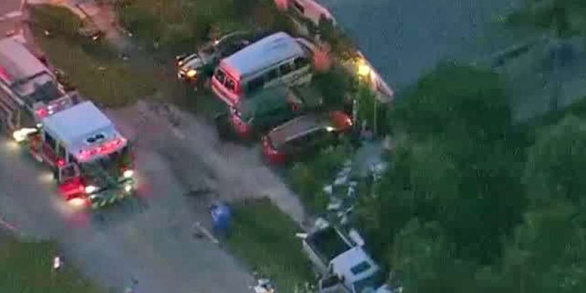 Violent crash sends vehicles into front yard of Lantana home