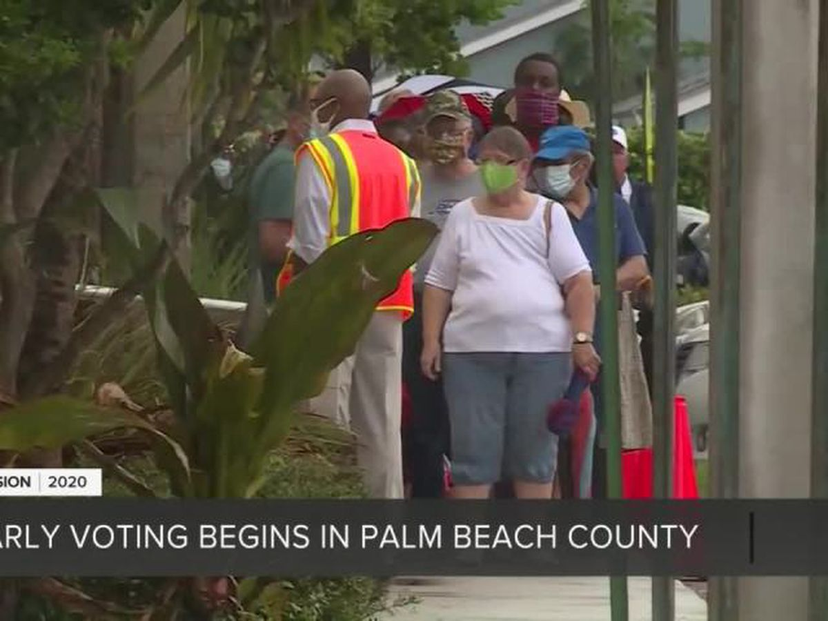 Early voting underway across Palm Beach County