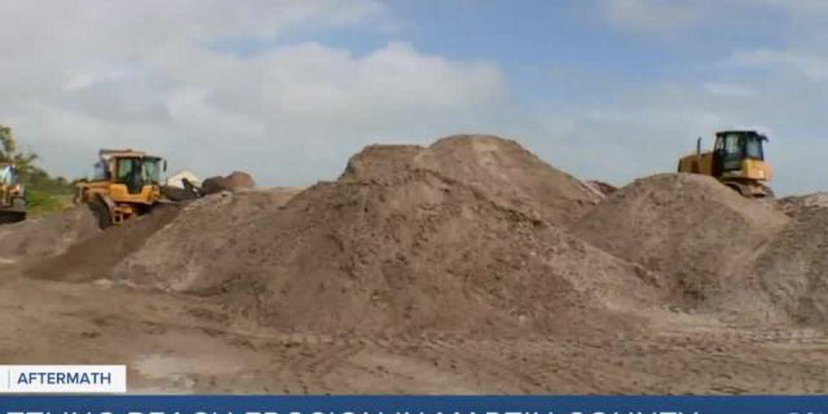 Crews restoring dunes at Bathtub Beach following Eta