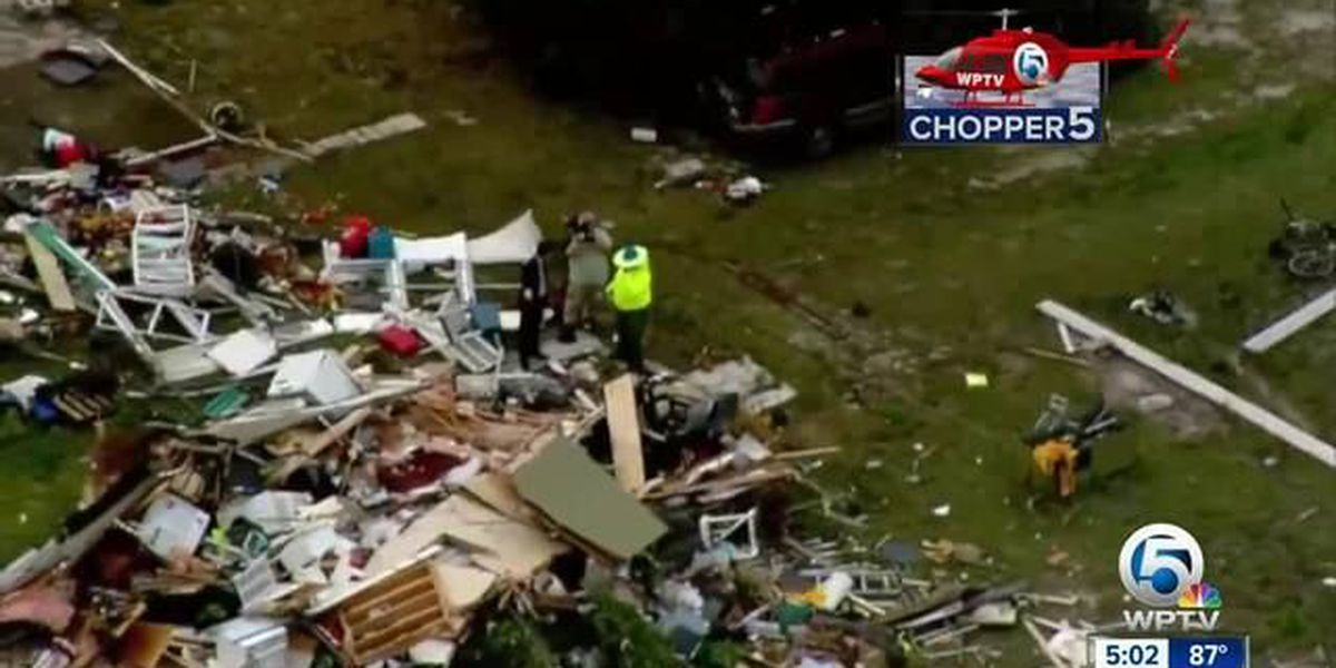 Residents look for shelter after the storm, after severe weather hits Okeechobee County