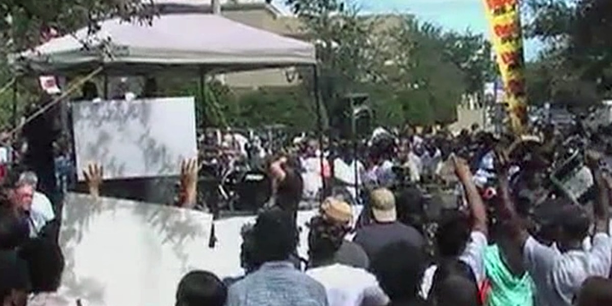 Friends celebrate Corey Jones's memory at rally