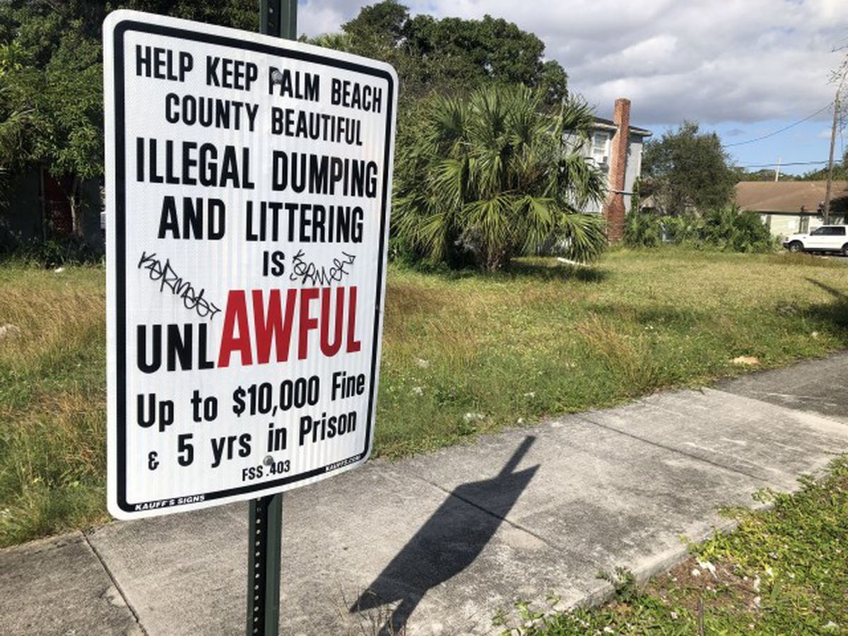 $98,000 in fines netted during West Palm Beach's war on illegal dumping