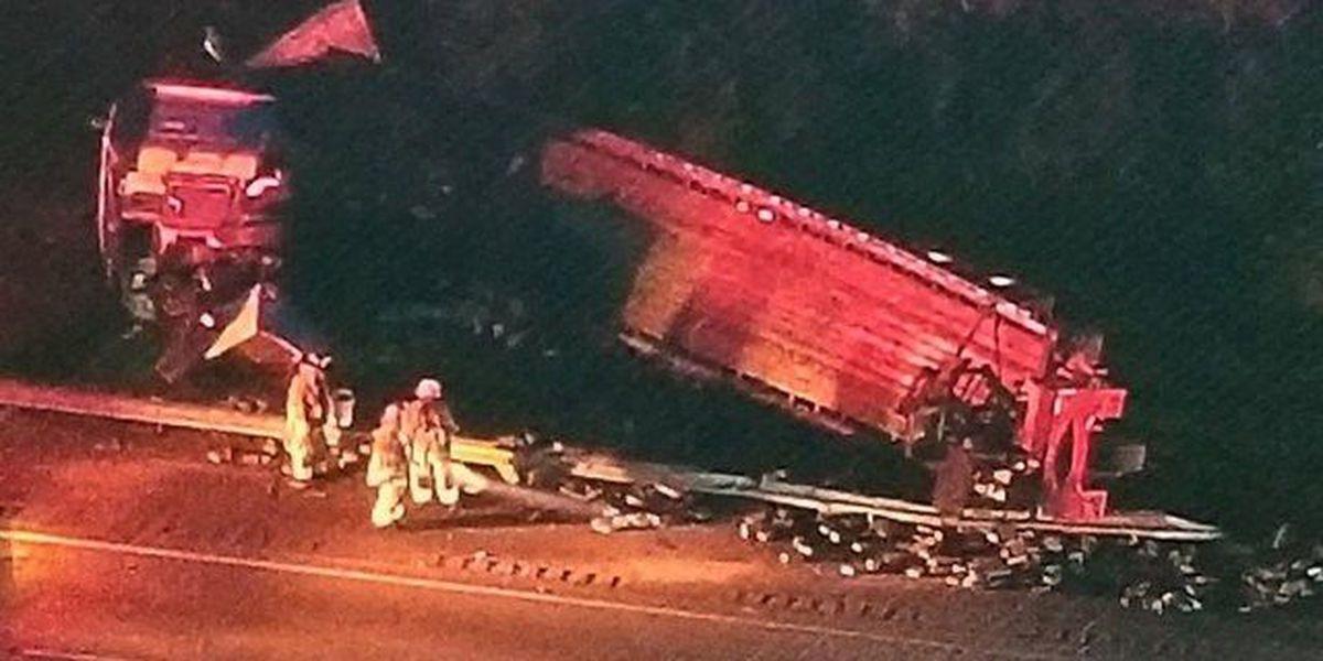 Jupiter semi wreck closes NB lane on Turnpike